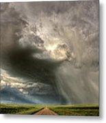 Storm Clouds Prairie Sky Saskatchewan Metal Print