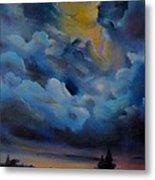 Storm Coming At The Sunset Metal Print