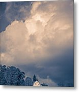 Storm Coming To The Old Farm Metal Print