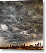 Storm Coulds Over Nyc Metal Print