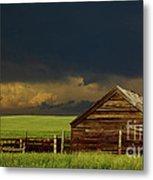 Storm Crossing Prairie 2 Metal Print