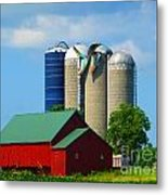 Storm Damaged Silo Roof Metal Print