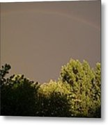 Storm Effects Rainbow With Highlights Metal Print