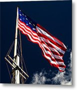 Storm Flag At Fort Mchenry Metal Print