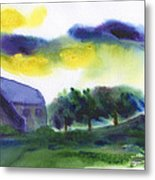 Storm In The Countryside Metal Print