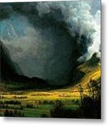 Storm In The Mountains Metal Print