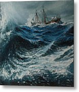 Storm In The Sea Metal Print