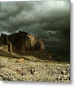 Storm In The Superstitions Metal Print