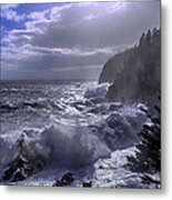 Storm Lifting At Gulliver's Hole Metal Print