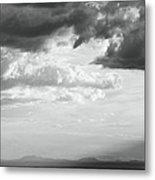 Storm Light On The Desert Metal Print