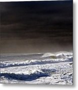 Storm Moving Out To Sea Metal Print