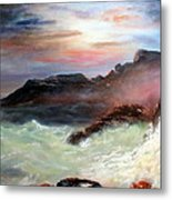 Storm On Mount Desert Island Metal Print