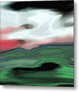 Storm On The American Landscape Metal Print