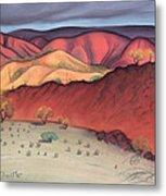 Storm Outback Australia Metal Print by Judith Chantler