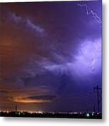 Storm Over Brush Metal Print