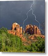 Storm Over Cathedral Rock Metal Print
