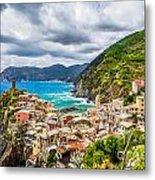 Storm Over Cinque Terre Metal Print