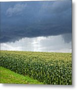Storm Over Cornfield In Southern Germany Metal Print