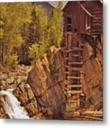Storm Over Crystal Mill Metal Print