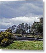 Storm Over Dunollie Metal Print