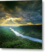 Storm Over Edwards Point Metal Print