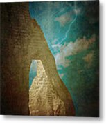 Storm Over Etretat Metal Print by Loriental Photography
