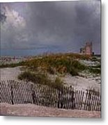 Storm Over Gulf Shores  Metal Print