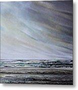Storm Over Hauxley Haven Northumberland 1 Metal Print