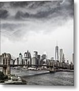 Storm Over Manhattan Metal Print