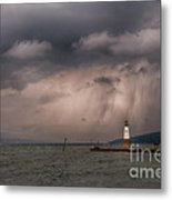 Storm Over Myers Point Metal Print