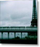 Storm Over Paris Metal Print