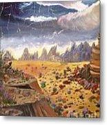 Storm Over The Desert Metal Print