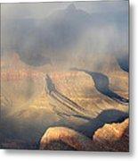 Storm Over The Grand Canyon Metal Print