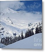 Storm Over The Summit Metal Print