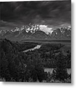 Storm Over The Tetons Metal Print by Andrew Soundarajan