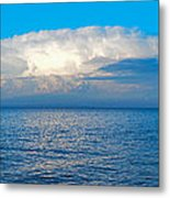 Storm Over Whitefish Bay Metal Print