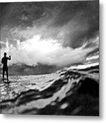 Storm Paddler Metal Print by Sean Davey