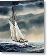 Storm Sailing Metal Print