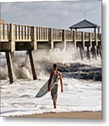 Storm Surfer Metal Print