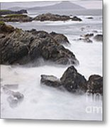 Storm Waves And Cliffs Metal Print