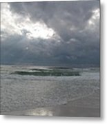 Stormclouds Over The Sea Metal Print