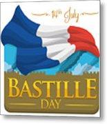 Storming Of The Bastille Representation Metal Print