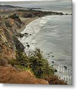 Storms Over A Rugged Coast Metal Print