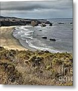 Storms Over An Unspoiled Beach Metal Print