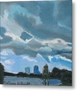 Storms Rolling In Over Lake Highland In Orlando Metal Print