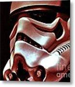 Stormtrooper Helmet 26 Metal Print