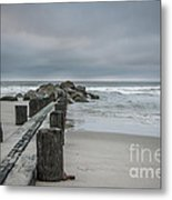 Stormy Beach Forcast Metal Print