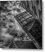 Stormy Clouds Over Modern Building Metal Print