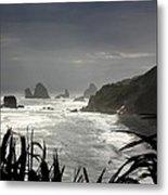 Stormy Coast New Zealand Metal Print
