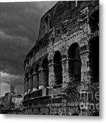Stormy Colosseum Metal Print